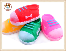 New arrival non-toxic plastic voiced pet dog toy shoes shaped pet dog toy for dog bite