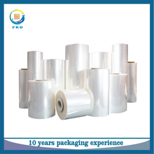 2016 hot sale clear poly PVC PET PE POF soft heat shrink film for packaging