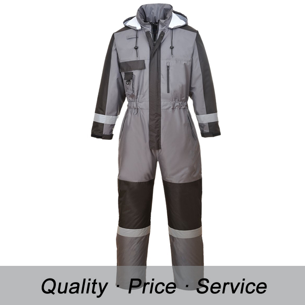 Winter Freezer Master Workwear Quilted Safety Clothes Coverall