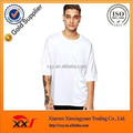 Customized cheap long line oversize raglan white t shirt