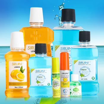 Wholesale price bulk OEM different flavour antiseptic private label liquid natural mouthwash buy from mouthwash manufacturers