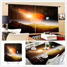 Factory Direct Sales Fantastic 3D Custom Print Universe Blackout Shower Curtains , Kitchen Outdoor Tablecloth , Window Curtain