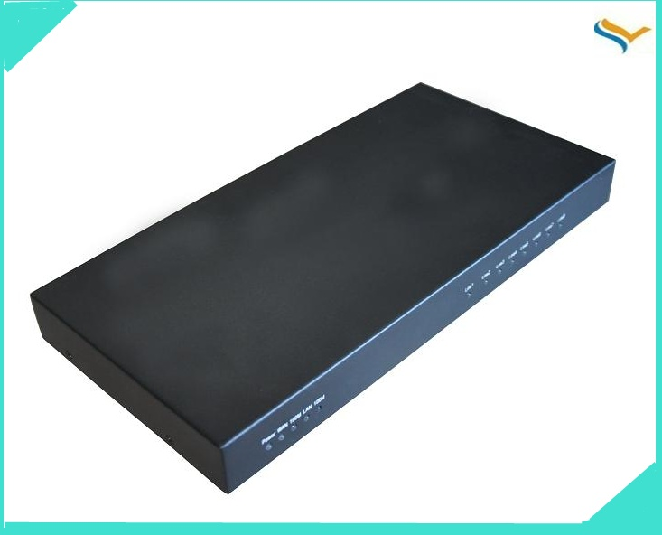 1U Rack Mount wireless VoIP PBX 4FXO+4FXS ports Asterisk IP PBX ,trixbox system of telephone
