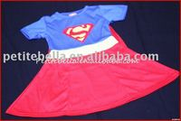 Short Sleeve SuperGirl Child Costume MAC45