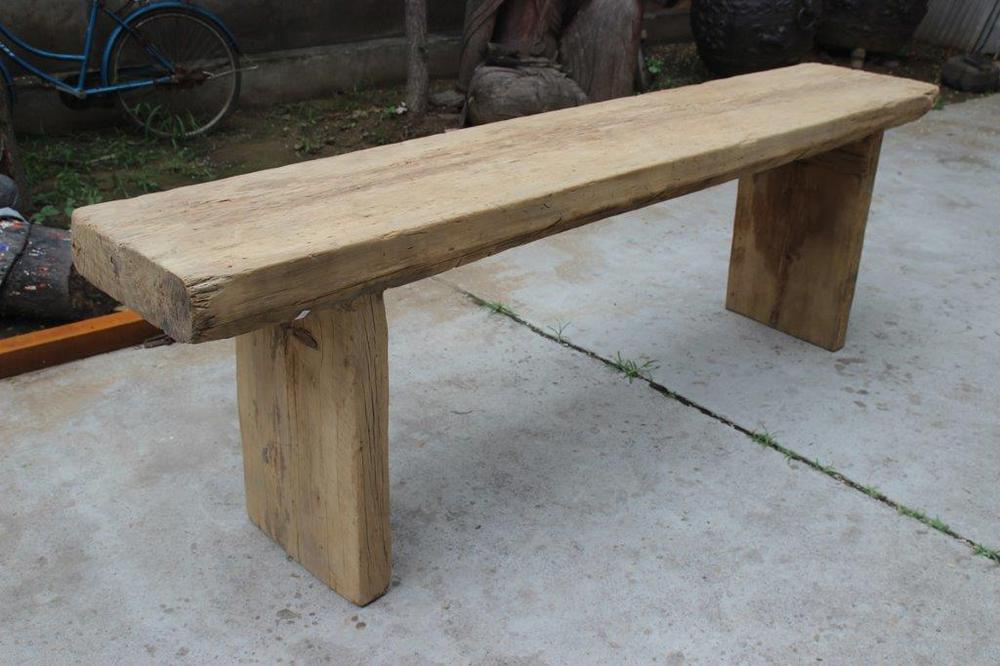 Chinese vintage reclaimed wood natural console table