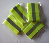 cheapest reflective elastic chain belt ,safety belt ,arm band