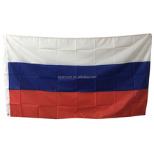 Polyester printed country flag,wholesale 2018 Russia World Cup football fans cheering Russia national flag