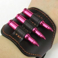 Rifle Leather Ammo Holder Cartridge Carrier Bullets Pouch Shell Case for Waist Carrying