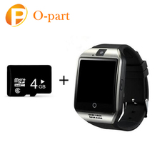 2017 bluetooth android smart watch q18 with 4G TF card