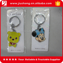 3D cute dog and mouse shaped metal key chains for sale