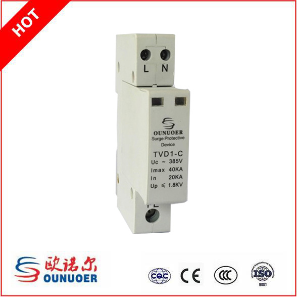 40KA 220V Single Phase N-PE Low Voltage Surge Protector