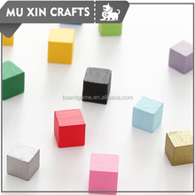 colorful wooden cubes customized board game piece