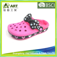 Children Winter Fabric Garden Shoes Cute Bow Shoes for Baby Girl