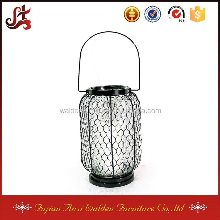 Garden Metal Clear Glass Hanging Candle Holder Lantern