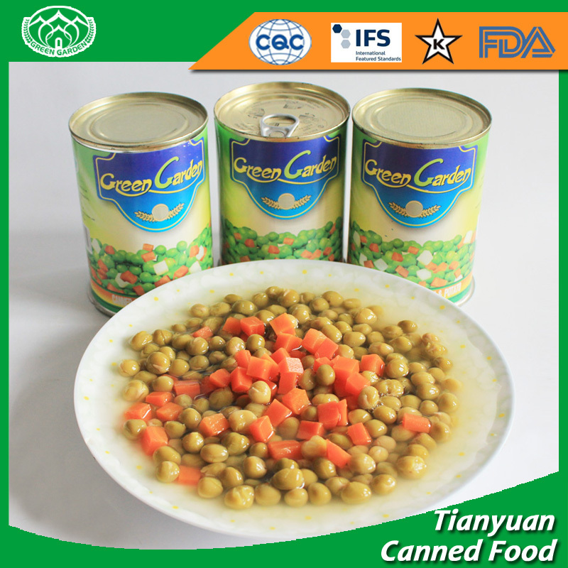 Factory wholesale canned green peas with different size