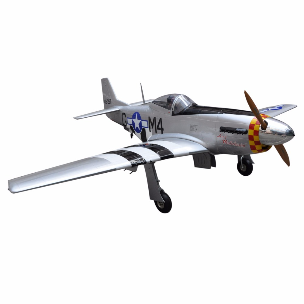 "big rc toy planes P-51 Mustang 96"" V2 gas powered rc planes sale"