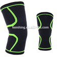Athletics Compression knee Sleeve Support nylon silicon basketball knee sleeve