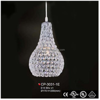 2010 Modern Hanging Crystal Light Antique Royal Crown Shape Cut Crystal Ceiling Mounted Chandelier