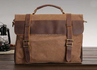 Vintage and High quality canvas leather bag for men