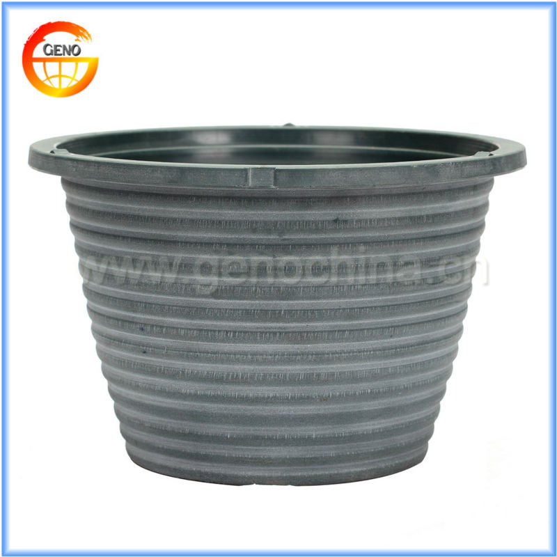 durable plastic large flower pot and planter