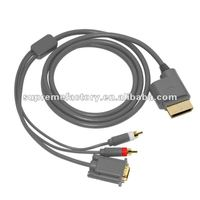 For Xbox 360 VGA HD AV With Optical Output Cable