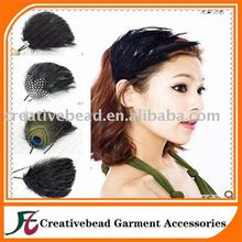 ladies hair making service ,ladies headband,ladies fascinators made by 100% natural feather