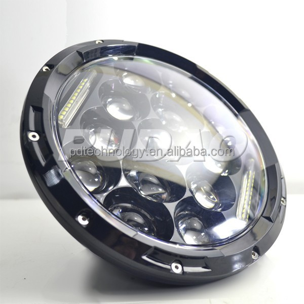 atv 4x4 accessory 7 inch round led headlight 12v 24v 4x4 7inch 75w led driving light