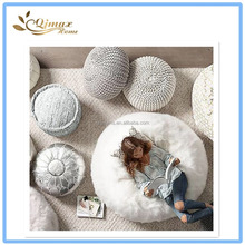 Living Room Fashion Knitted Bean Bag Ottoman
