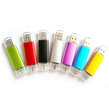 Hot Sale Metal OTG USB Flash Drive Mobile Pen drive 4GB 8GB 16GB 32GB 64GB USB Stick External Memory Storage Pen Drive