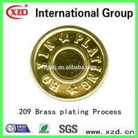 electroplating formulation Brass plating process