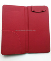 Your logo branded check holder leather restaurant bill folder