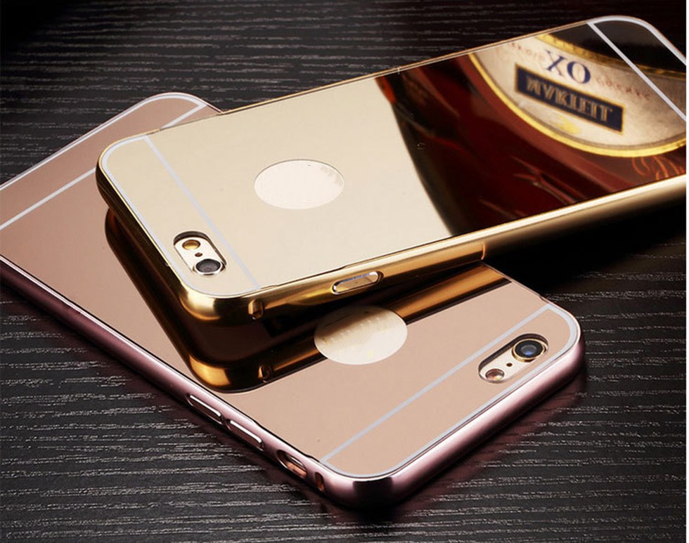 Factory price new products aluminum pc bumper mirror cover case for iphone5/6/6plus for samsung s7 edge