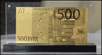 24k gold foil banknotes Euro with frame for business gifts