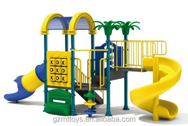 outdoor playground combination slides with swing