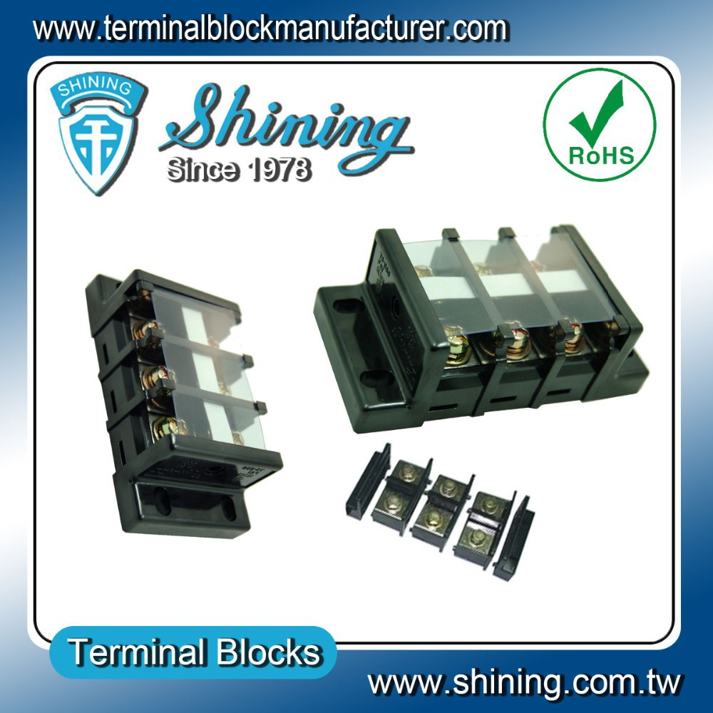 TB-060 Shining Panel Mount 600V 60A Copper Busbar Terminal Strip