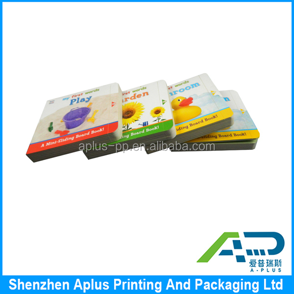 Full color printing custom children's learning book, Cardboard Book Printing