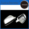 High Quality Auto Parts S line style silver matt chrome side mirror cap replacement For Audi a4 b8