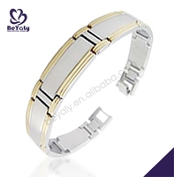 costume jewelry wholesale fashion stainless steel amber stone bracelet