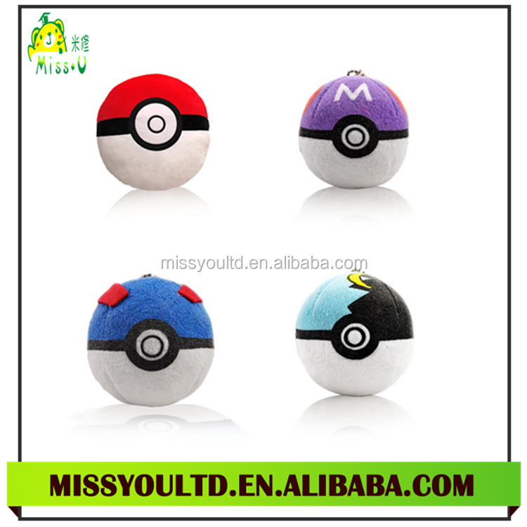 Wholesale Plush Cute Type Pokemon Ball For Baby Gift