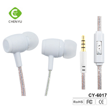 Customized Plastic Earbud Printing White Earphone With 3.5mm Jack