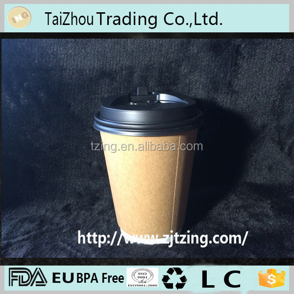 PLA coated biodegradable paper cup hot coffee paper cup