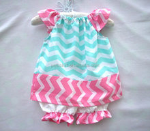 toddler boutique outfit sky blue chevron top with pink chevron ruffle and shorts set