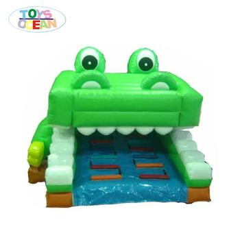 attractive inflatable cartoon frog slide/jumping slide for kids