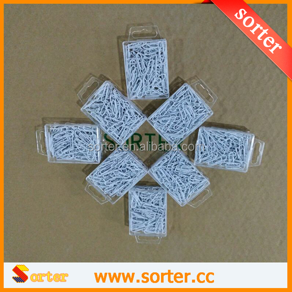 SORTER White color metal blank money 28mm office paper clips