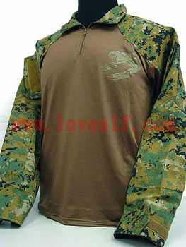 Poly/Cotton Long Sleeve Tactical Military Shirt Mens T-shirt