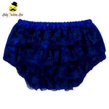Royal Blue Elastic Lace Ruffles Baby Bloomers Summer Beach Girl Underwear