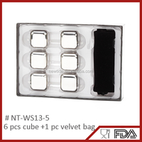 hot selling stainless ice cube food grade whiskey cubes stainless