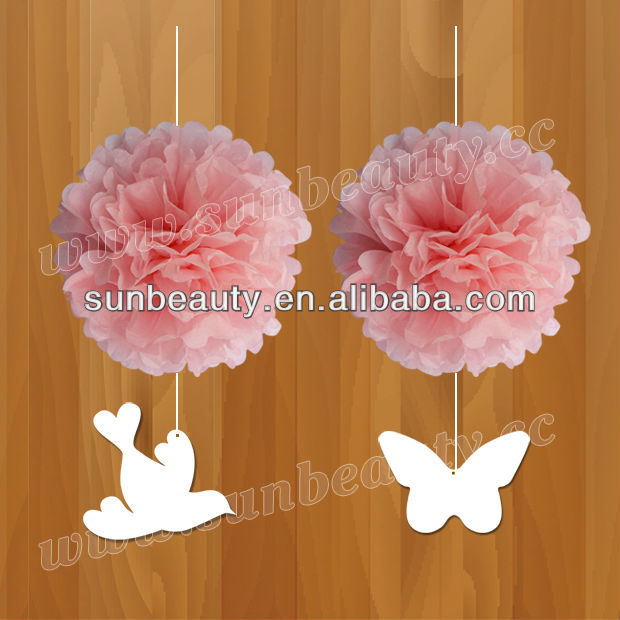 decorative hanging art and craft pom poms for wedding decoration