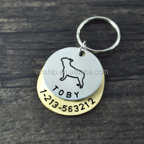 Free design custom high quality 2d nfc dog tag