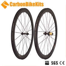 CarbonBikeKits 700c superlight road bike 50mm Clincher cycling carbon fiber wheels